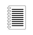 clipboard document symbol isolated black and white vector image