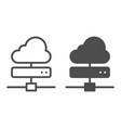 cloud server line and glyph icon computing vector image vector image