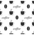coffee bean seamless background vector image vector image