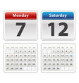 colorful calendar isolated on a wihite background vector image vector image