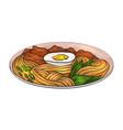 coloring cartoon of ramen noodle vector image