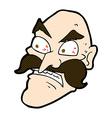 comic cartoon angry old man vector image vector image