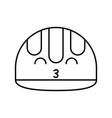 construction helmet kawaii character vector image vector image