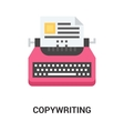 copywriting icon concept vector image vector image