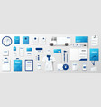 corporate identity template design blue and white vector image vector image