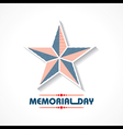 Creative memorial Day Greeting stock vector image