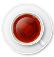 Cup of black tea vector image vector image