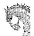 doodle of horse vector image vector image