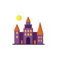 dracula s castle icon vector image vector image