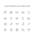 electronics line icon set vector image