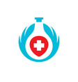 elixir of health abstract sign vector image vector image