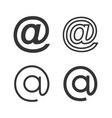 email icons set with various style vector image