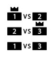 esports tournament glyph icon vector image vector image