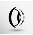 Eye icon vision view look see sight symbol vector image vector image