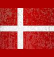 flag of denmark grunge vector image vector image