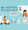 flat voting elements composition vector image