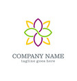 flower decoration beauty logo vector image vector image