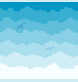 fluffy sky background in graduating white to blue vector image