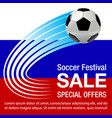 football championship sale background vector image