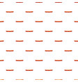 fried sausage pattern vector image vector image