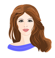 Girl young brown hair vector image