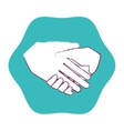 hand shake isolated icon vector image vector image