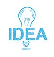 handwriting sketch idea concept design vector image vector image