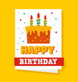 happy birthday concept background flat style vector image