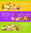 happy easter web horizontal banners vector image vector image