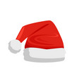 hat of santa claus closeup vector image vector image