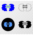 head links integration eps icon with vector image