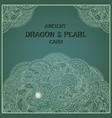 Indigo oriental pearl dragon card vector image