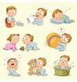 Infant Isolated background vector image