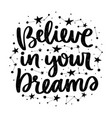 lettering with stars vector image vector image