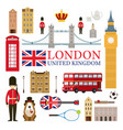 london england and united kingdom tourist vector image vector image