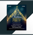 luxury christmas sparkle tree flyer design vector image vector image