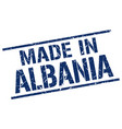 made in albania stamp vector image vector image