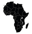 map african continent vector image vector image