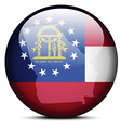 Map on flag button of USA Georgia State vector image vector image