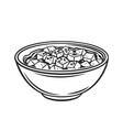 mapo tofu chinese cuisine outline icon vector image