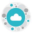 of internet symbol on cloud vector image