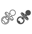 pacifier line and glyph icon baby toddler vector image