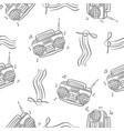 pattern of radio hand draw vector image vector image