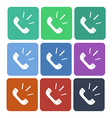 phone call flat icon vector image vector image