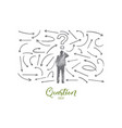 question concept hand drawn isolated vector image