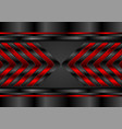 red and black glossy arrows abstract tech vector image vector image