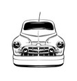 retro car made in hand drawn style hand sketched vector image