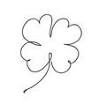 saint patrick clover leaf continuous line art vector image vector image