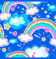 seamlseamless pattern with multicolour rainbow vector image
