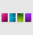 set bright abstract contemporary vector image